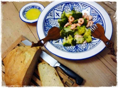 Broccoli, Prawn and Ginger Salad