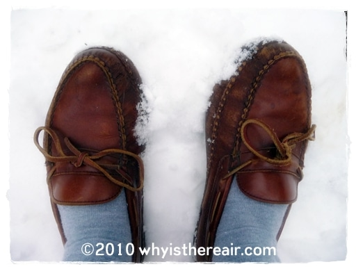 OMG I went out in the snow in my slippers!