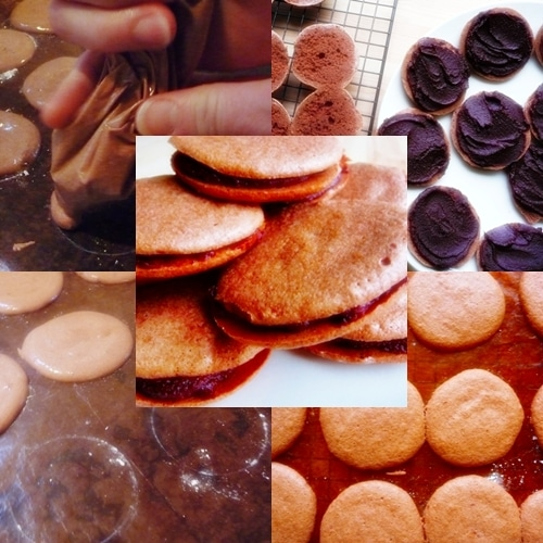 Chocolate Macarons made in the Thermomix