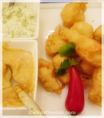 Spicy Crab Tempura with two sauces
