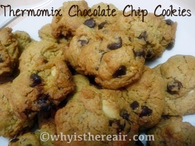 Thermomix Chocolate Chip Cookies are way too easy to make and of so delicious!