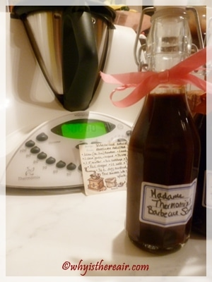 Madame Thermomix makes great BBQ sauce