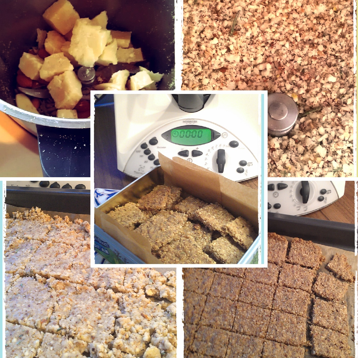 From dry ingredients to delicious Thermomix baked almond and seed crackers in minutes. Fast and easy does it!