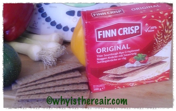 Finn Crisp Original Thin Sourdough Rye Crispbreads make a great stuffing for vegetables steamed in the Thermomix Varoma