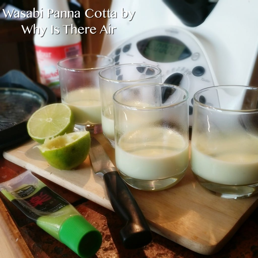 This Wasabi Panna Cotta is fast and easy to make. The lime juice really goes well with the wasabi.