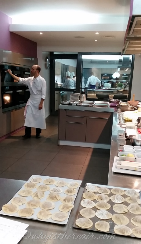 Chef William checks the bank of Miele steam ovens