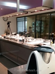 The classroom kitchen at Ecole de Cuisine Alain Ducasse is equipped not only with a bank of Miele steam ovens but also with a Thermomix!