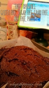 """Your """"Free"""" Brownies batter should be thick, dark and very hard to resist!"""