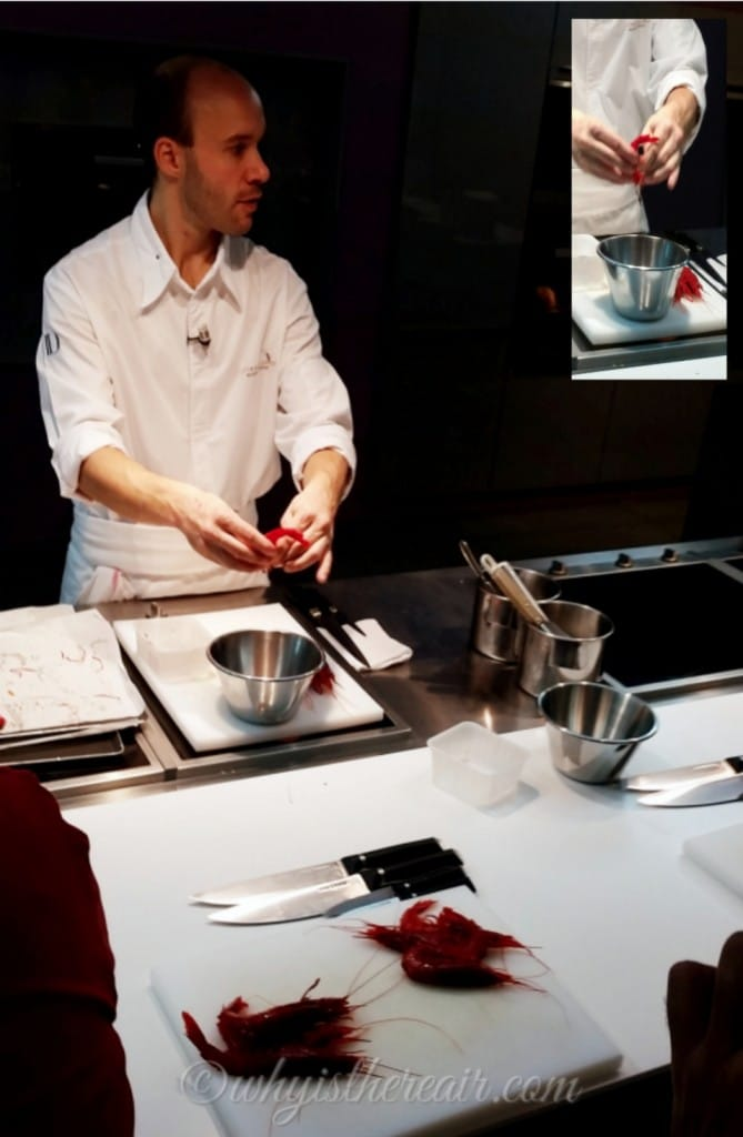 Chef William of ECAD shows us how to prepare the gamberoni