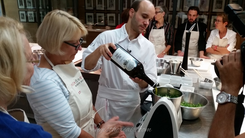 Madame Thermomix helps Chef William make pesto