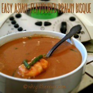 Madame Thermomix's Easy Asian-Flavoured Prawn Bisque recipe makes a delightful lunch for one!