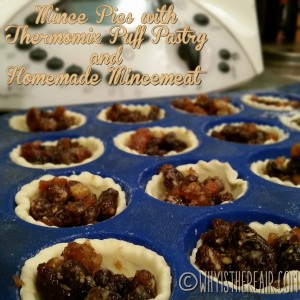 Here's my Thermomix France puff pastry filled with homemade Thermomix mincemeat