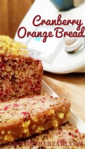 Every year my Mom used to make us this delicious Cranberry Orange Bread at Thanksgiving and Christmas
