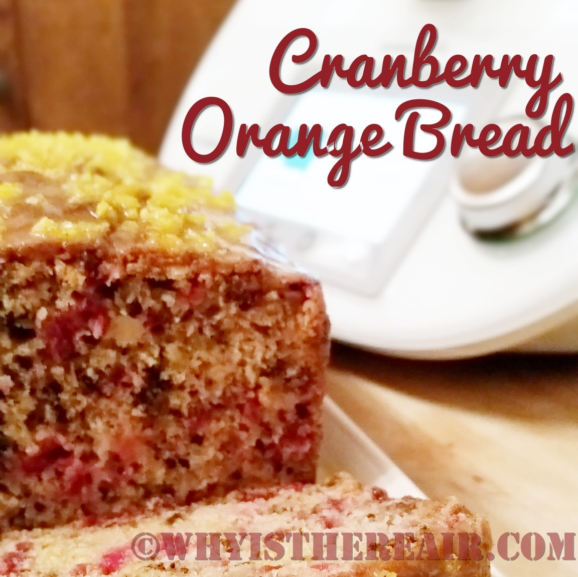This Cranberry Orange Bread gives me Proustian memories of my childhood and ice skating on the cranberry bogs of Scituate, Massachusetts