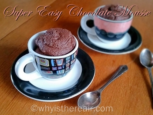 This rich yet light chocolate mousse is made with only four ingredients and takes about 10 minutes to make