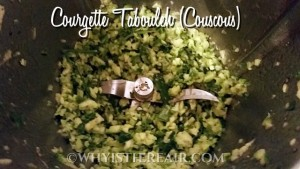 Courgette Tabouleh or courgette couscous is a fast and easy, delicious way to serve your courgettes