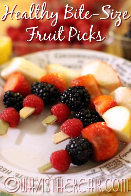 Grapes, banana, pineapple, and citrus are just some of the fruits you might choose from for your Healthy Bite-Size Fruit Picks.