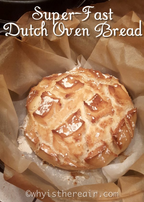 A super-fast, super-crusty loaf that rises as it bakes!