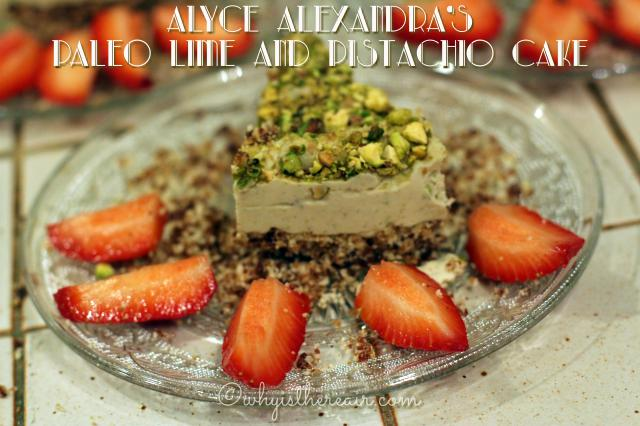 Alyce Alexandra's Paleo Lime & Pistachio Cake is grain free, refined sugar free, gluten free, dairy free, sweet, and just plain delicious!