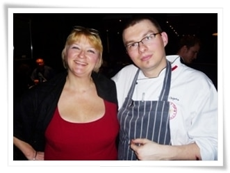 Madame Thermomix and rising star Grzegorz Olejarka at Brooklands Brasserie