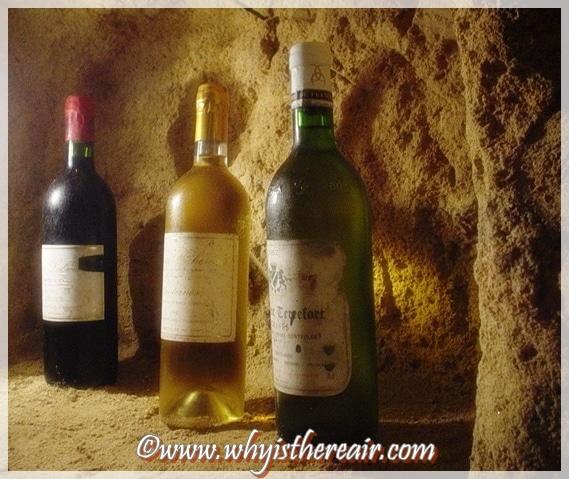 Bottles of wine in Bordeaux
