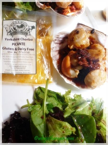 Yorkshire Chorizo, scallops, onions