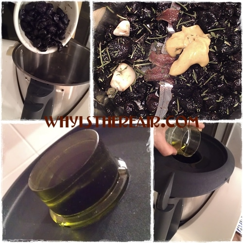 Making Patricia Wells' Black Olive Tapenade in your Thermomix