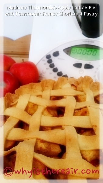 Madame Thermomix's Apple Lattice Pie with Thermomix France Shortcrust Pastry