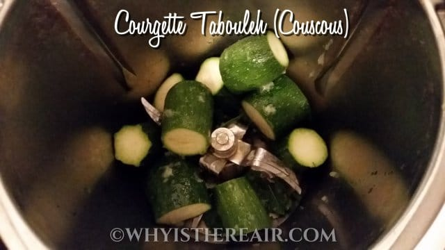 Cut your courgettes into 5 cm/2 inch chunks