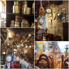 Vintage clothing and furniture; antique garden ornaments, tables and chairs; antique furniture and household objects; kitchenalia; musical instruments; wall clocks; table clocks; grandfather clocks... you can find most everything at the Moulin de la Bussière - except dust ;-)