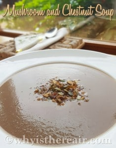 It's easy to turn my favourite super food into this delicious Mushroom and Chestnut Soup, thanks to our trusty friend the Thermomix