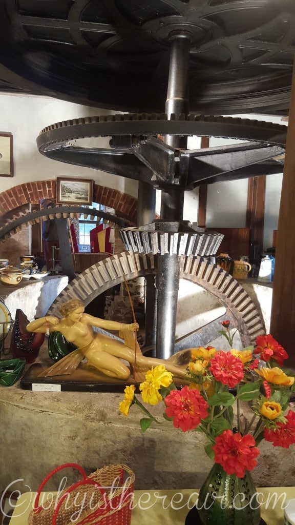The intricate mechanism at the heart of the mill has been exceptionally preserved