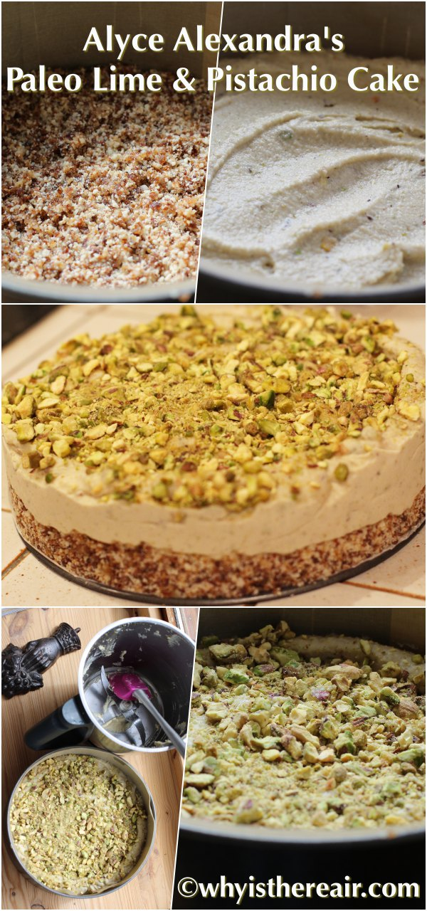 Why is There Air makes Alyce Alexandra's Lime & Pistachio Cake. Gorgeous, delicious, fast and easy in your Thermomix!
