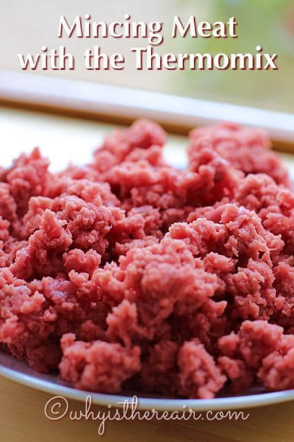 Beautiful Thermomix minced beef takes just seconds to make