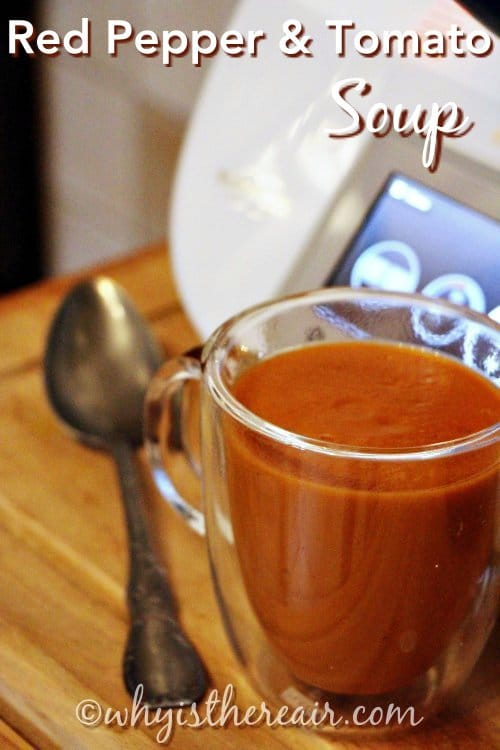 This Red Pepper and Tomato Soup is one of my all-time favourites and I just love the way the capiscum blends with the tomato!