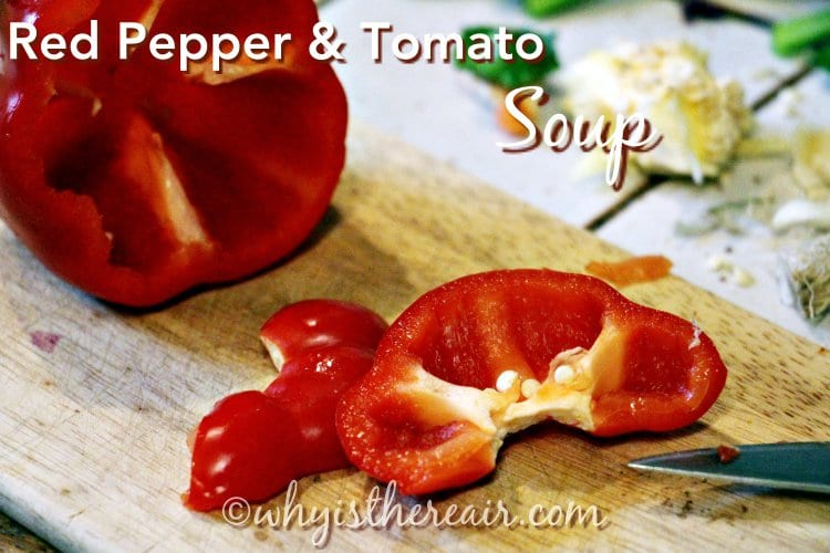 Start with fresh red peppers or capiscum to make this delicious soup.