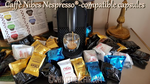 My stash of Caffè Nibes Nespresso®-compatible Coffee Capsules to taste and review