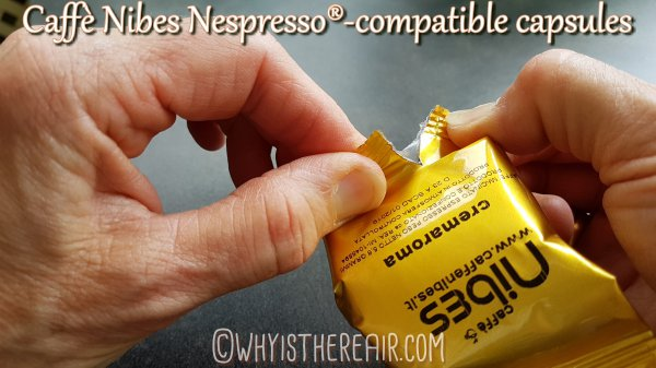 Caffè Nibes Nespresso®-compatible Coffee Capsules come individually wrapped in a foil pouch to ensure freshness