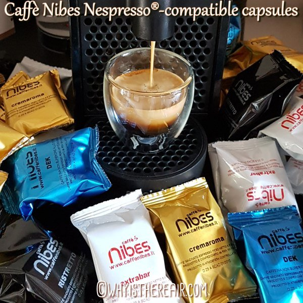 Caffè Nibes Nespresso®-compatible coffee capsules are a good alternative for the price-conscious coffee drinker who appreciates a hearty Italian roast Robusta coffee.