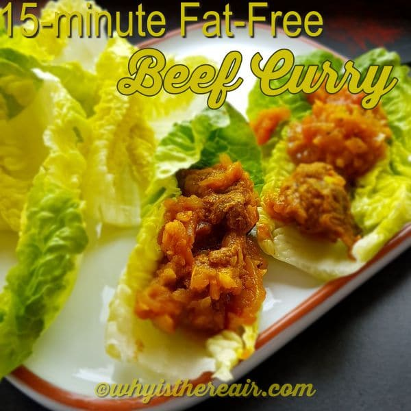 Serve your 15-minute Fat-Free Beef Curry in little gem lettuce boats for a nice twist